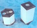 15AB - Porta Rot Hexagonal y Cuadrado con Carta, varias Alturas