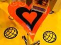 22AR - Mesa Poker Corazón 50x50cm Regulable en Altura
