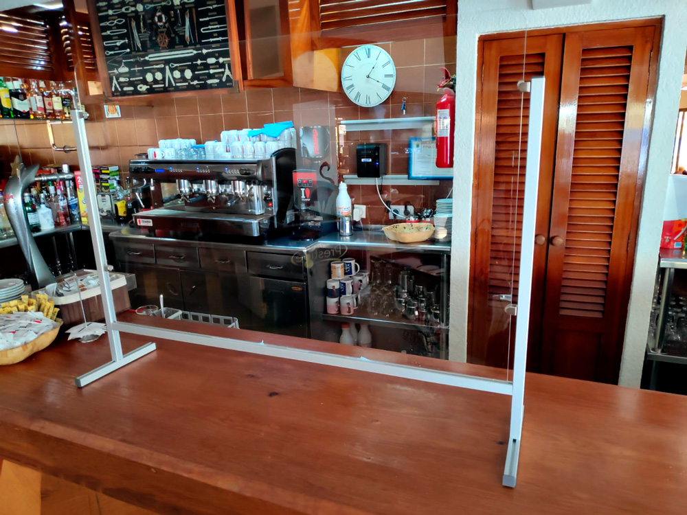 MAMPARAS MESAS RESTAURANTES CAFETERIAS BARES