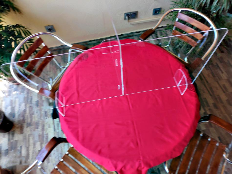 Mamparas modulares para mesas de bingo
